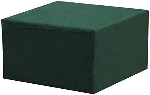 Pillowcase Fundas para Muebles de Patio Impermeables para Mesa y sillas 123x123x74cm, Cubierta de Mesa de Patio Resistente, Cubierta Rectangular para Mesa de Exterior, Anti-UV 420D Oxford