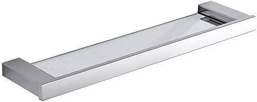 MXueei Douche opslag ZfgG Badkamer plank 304 roestvrij staal dressing tafel kaptafel gehard glas spiegel voorzijde frame enkele plank