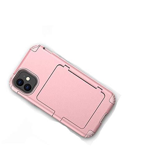 Funda para teléfono con soporte para tarjeta de crédito 3 en 1 con espejo de maquillaje para iPhone 11 11 Pro Max 6 6S 7 8 Plus XR XS Max X XS Funda para soporte de soporte, T4, para 7 Plus u 8 Plus