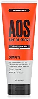 Art of Sport Men's Body Wash with Tea Tree Oil and Aloe Vera, Compete Scent, Dermatologist-Tested, Paraben-Free, Hypoallergenic, Moisturizing Shower Gel, 10 oz
