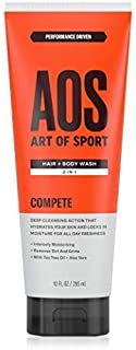 Art of Sport Men's Body Wash with Tea Tree Oil and Aloe Vera, Compete Scent, Dermatologist-Tested, Paraben-Free, Hypoallergenic, Moisturizing Shower Gel, 10 oz