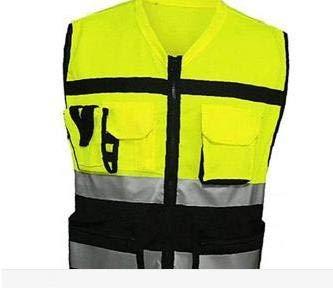 OMMO LEBEINDR Sicherheitsjacke Farbe Signal-Weste Warnweste Motorrad Fahrradbekleidung - Schwarz und Gelb 1 STK