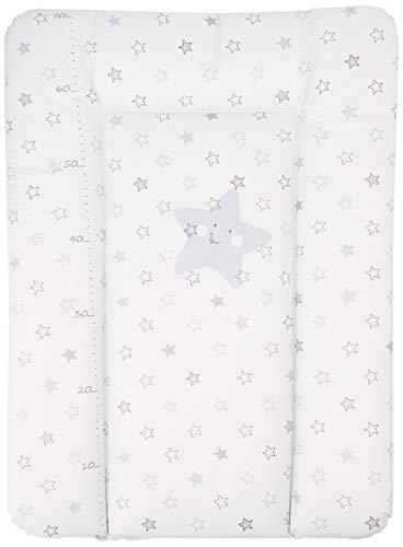 BabyCalin BBC510707 Cambiador Essential con varilla de medir, estrellas gris claro, 50cm x 70cm, 1 pieza