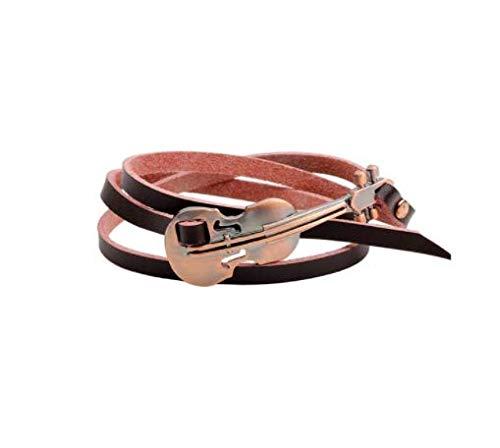 BO LAI DE Alloy Guitar Leather Jewelry Multi-Layer Bracelet Street Men And Women Music Lovers The Best Gift,w