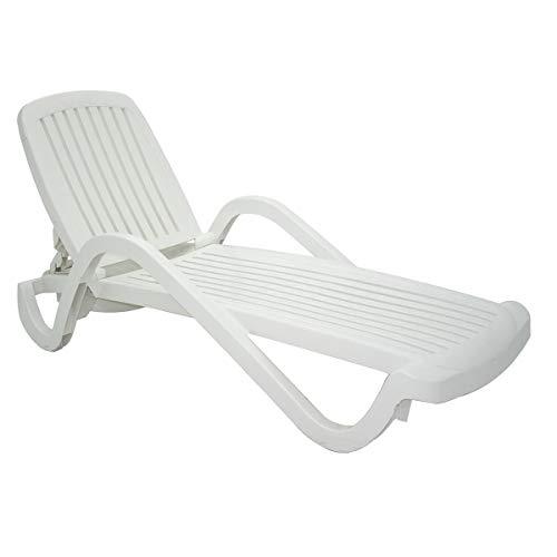 Cadeira Plástica Espreguiçadeira Tramontina, Copacabana, Branca - 92257010