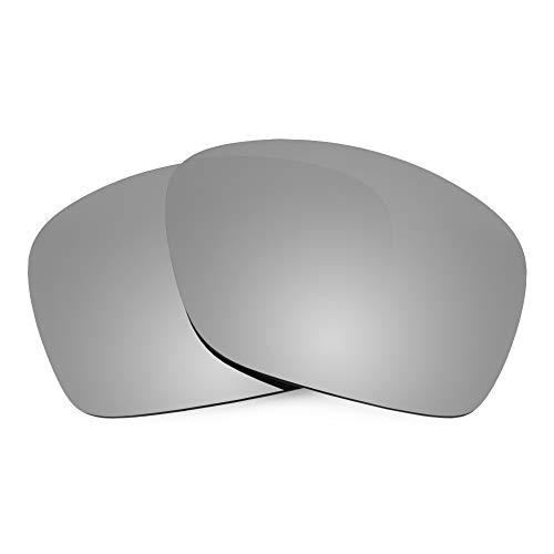Revant Lentes de Repuesto Compatibles con Gafas de Sol Oakley Plaintiff Squared, Polarizados, Titanio MirrorShield