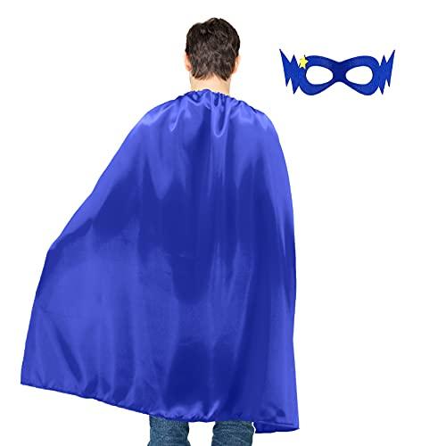 D.Q.Z Adult Superhero-Capes and Masks for Men Women, Halloween...