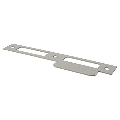 ToniTec Schließblech für Zimmertür Zimmertürschließblech Lappenschließblech altsilber käntig