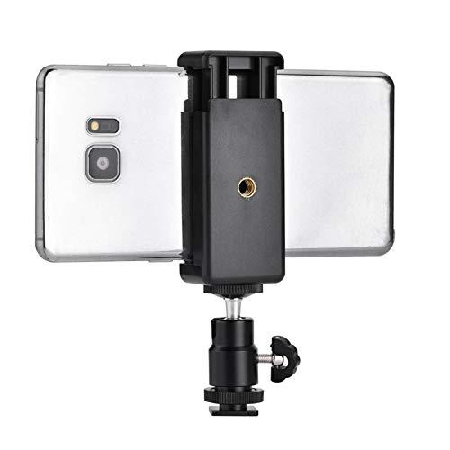 FOLOSAFENAR Rotación de 360 Grados con un Adaptador de trípode de teléfono con Cabeza esférica portátil, para Linterna