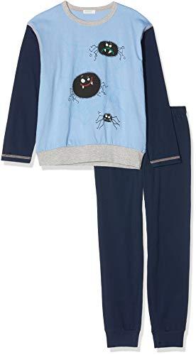 Undercolors of Benetton Jungen Lutk Fashion 2nd Del Zweiteiliger Schlafanzug, Mehrfarbig (Azzurro/Blu Scuro 10h), Gr. 90 CM/2Y (Herstellergröße:2Y)