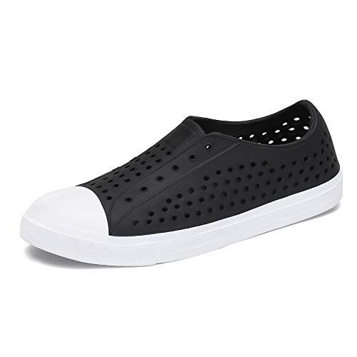 SAGUARO Mens Womens Sneaker Breathable Slip On Lightweight Garden Clogs Outdoor Beach Water Shoes Black 7 M US Women / 6 M US Men