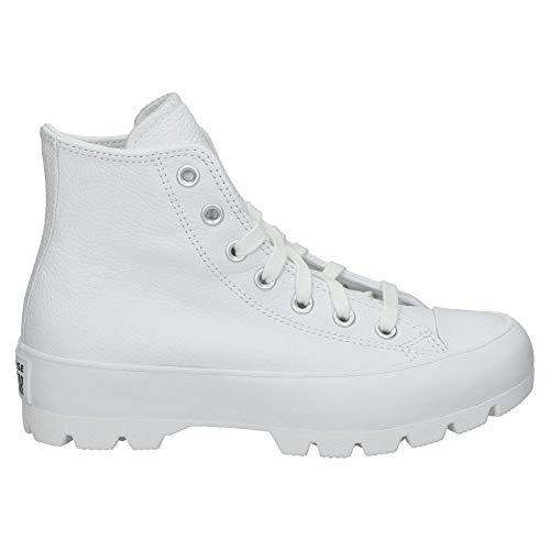 Converse Chuck Taylor All Star, Zapatillas de Paseo. Mujer, Blanco, 40 EU