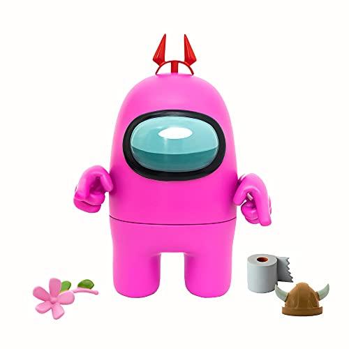 Bizak-  Among Us Mega Figura Pack 1 en Caja Rosa (64116500),  Multicolor