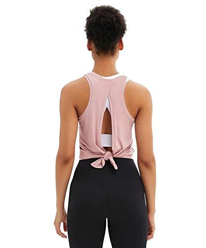 Chaleco de yoga para mujer con cuello halter y camiseta deportiva para mujer
