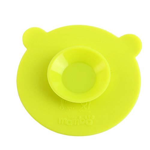 Babytrage Silikon Saugnäpfe Matte Anti Slip Mahlzeit Saugmatten Doppelseitige Magische Saugschale Saugnapf for Baby Kinder Kinder Packung Von 2 (Color : Green)