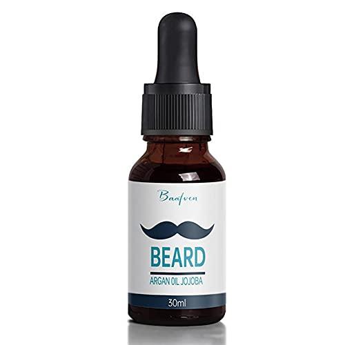 Suavizante de aceite de barba hidratante natural puro de 30 ml para hombres, fortalece, espesa para el crecimiento de la barba, productos para el crecimiento del cabello