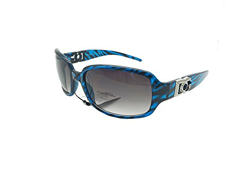Love DG Fahion Eyewear Womens zebra Designer Eyewear Shades Sunglasses (Blue zebra)