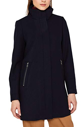 ESPRIT Damen 099Ee1G014S Mantel, Blau (Navy 400), Medium (Herstellergröße: M)