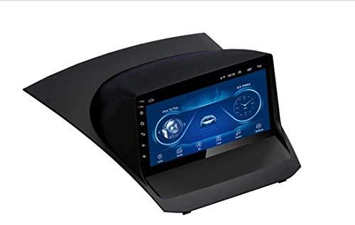 Radio de coche estéreo Android 8.1 Navegador de reproductor MP5 de 9 pulgadas compatible con Ford Fiesta (2009-2012), GPS 2.5D Pantalla táctil completa, Bluetooth, Wifi, SWC, Mirror Link (1G + 16G