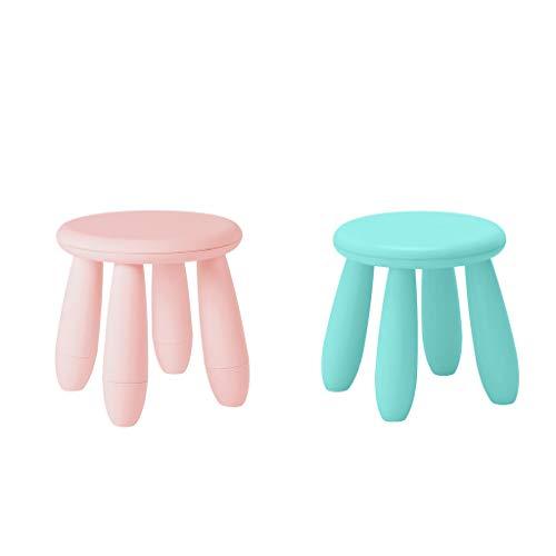 freneci Pack 2 Plastic Kids Assembling Chair Vorschulsitz 30cmx30cm Blau/Pink