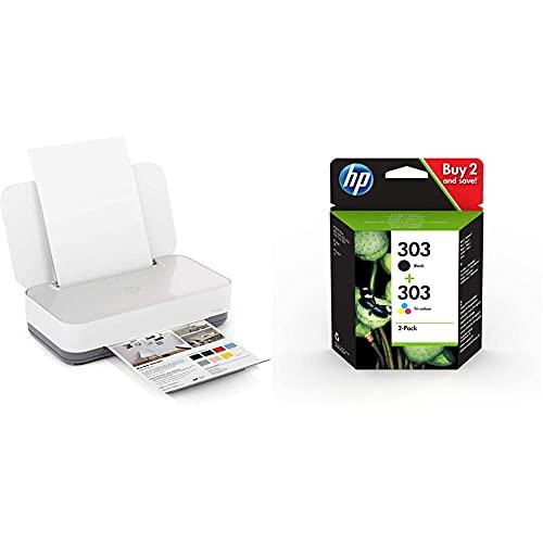 Hp Tango - Impresora Tinta, Color, Wi-Fi + 303 3Ym92Ae, Negro Y Tricolor, Cartuchos De Tinta Originales