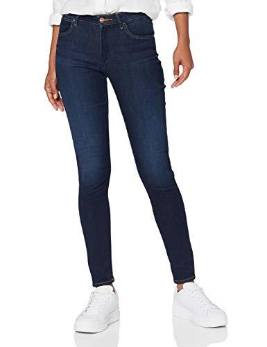 Wrangler Damen Skinny Jeans, Soft Creek, 28W / 32L