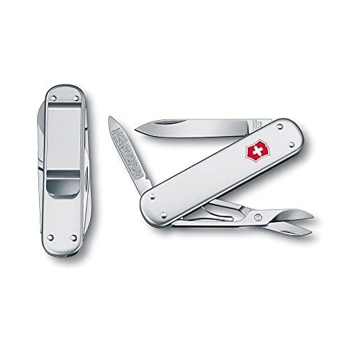 Victorinox Money Clip Taschenmesser (5 Funktionen, Klinge, Nagelfeile) Alox Glatt/Silber