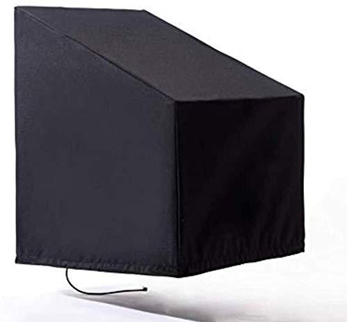Juego de muebles de patio, funda de asiento de barco, funda protectora impermeable con cordón resistente al viento, impermeable, lluvia, nieve, polvo, antiviento, antirayos UV (negro/plateado