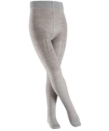 FALKE Kinder Strumpfhosen Cable - Schurwoll-/Baumwollmischung, 1 Stück, Grau (Light Grey 3770), Größe: 134-146