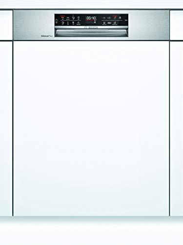 Bosch SMI6ECS57E Serie 6 Geschirrspüler Teilintegriert / D / 60 cm / Edelstahl / 85 kWh/100 Zyklen / 14 MGD / SuperSilence / VarioSchublade / Home Connect