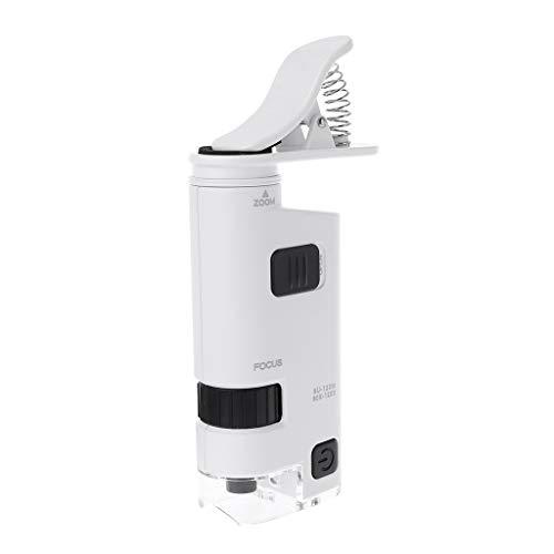 JENOR 80-120X Mikroskop mit Telefonclip LED Lampe Lupe Textil Mikroskop