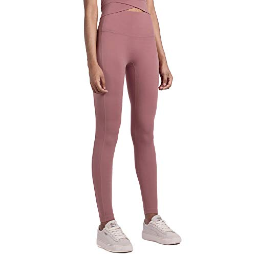 Dizadec Yoga Pants with Pockets Extra Soft Leggings with Pockets for Women Non See-Through High Waist Workout Leggings Pink