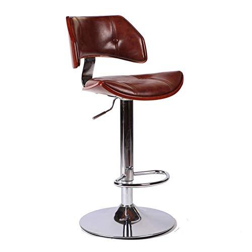ZHJBD Meubilair Kruk/Draaibaar Kantoorstoelen Verstelbare Bureau Stoelen Lifting Bar Hoge Kruk Bar Stoel met Terug 24 Inch Hoge Zitting PU Leer