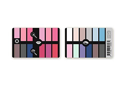 Handlicher Make-up Karten-Farbpass Sommer aus Plastik mit 24 typgerechten Make-up Farben zur Farbanalyse, Farbberatung, Stilberatung