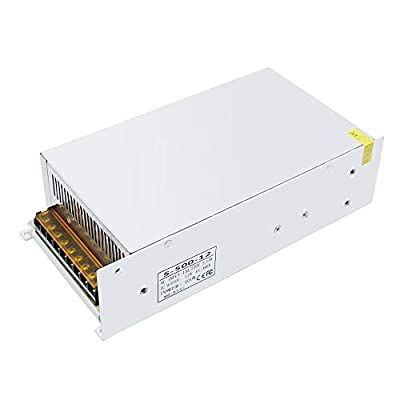 inShareplus 12V 41.7A 500W, DC Universal Regulated Switching Power Supply, 110/220V AC to DC 12 Volt LED Driver, Converter, Transformer for LED Strip Light, CCTV, Computer Project, 3D Printer
