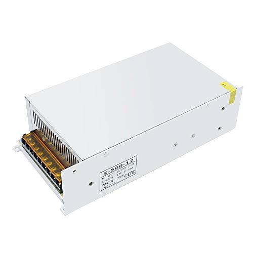 inShareplus 12V 41.7A 500W, DC Universal Regulated Switching Power Supply, 110/220V AC to DC 12 Volt LED Driver, Converter, Transformer for LED Strip Light, CCTV, Computer Project, 3D Printer