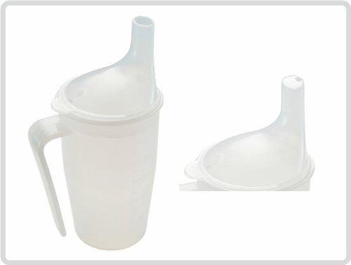 Trinkbecher Schnabelbecher Krankentasse Schnabeltasse mit Griff (Set Tee & Brei), spülmaschinengeeignet