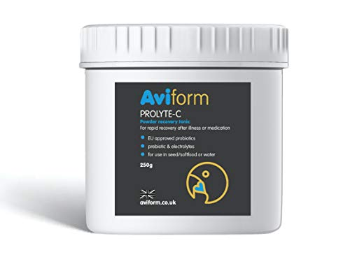 PROLYTE C - Avian Probiotic - Health Tonic for Cage & Aviary Birds - Rapid Recovery After Illness and Aids Digestion - Bird Vitamins with Bird Probiotics, Prebiotics & Electrolytes - 250g.