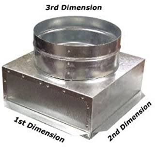 C-Box HVAC Plenum Ceiling Box 16 x 16 x 14 Round-Connects to Vent Register Diffuser