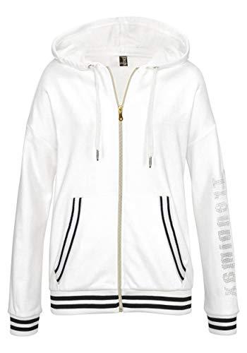 TrendiMax Damen Sport Hoodie Kapuzenpullover Logo Druck Sweatjacke Kapuzenjacke