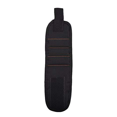 LLine Magnetische polsband Draagbare gereedschapstas Magneet Elektricien Polsgereedschap Riemschroeven Nagels Boren Armband Voor reparatiehulpmiddel, zwart