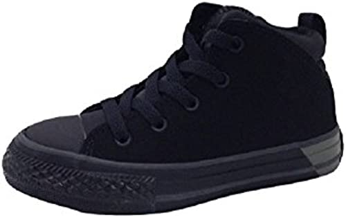 Converse Kids Chuck Taylor All Star Official Ripstop and Nubuck Mid (1 Little Kid M& 039;)