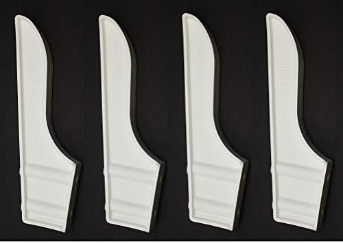 Black or White Dock Piling Line Holder Hook - Store Your Dock Lines/Ropes (4, White) Dock Edge Line Holder