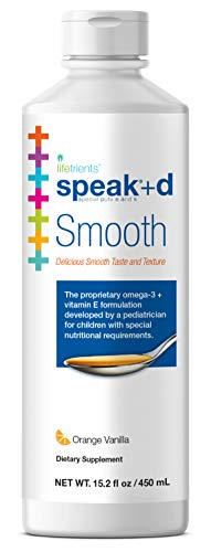 Lifetrients – Speak+D Smooth – Orange Vanilla – 15.2 oz – Pediatrician Formulated to Support Children with Special Nutritional Requirements – Enhanced with Omega-3 & Vitamins E's, K's & D