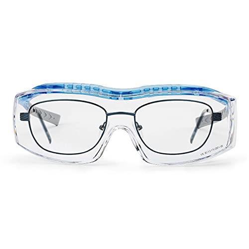 SOLID. Occhiali protettivi da lavoro | Sovra occhiali anche per portatori di occhiali con perfetta vestibilità e protezione laterale | Lenti antigraffio, antiappannamento e protettive contro UV