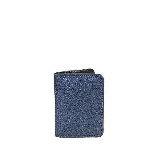 C-oui - Porta carte in pelle goffrata OUESSANT 39, colore: Blu
