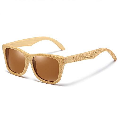 Gafas De Sol Hombres,Gafas De Sol De Bambú De Madera Hombres Mujeres