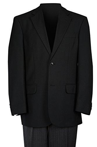 Schwarz Standard Passform Zwei Stück Anzug Gr. 30R Taille, schwarz