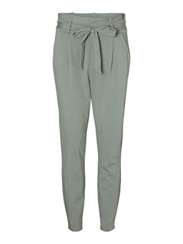 VERO MODA Damen VMEVA HR Loose Paperbag Pant NOOS Hose, Laurel Wreath, 32 (Medium)