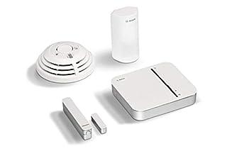 scheda set base sicurezza bosch smart home con funzionamento tramite app (compatibile con apple homekit), bianco